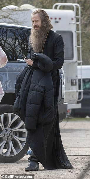 Casting: Adam, who is appearing for the first time in series two, was sporting an extremely long grey beard and hair, while sporting a long black cloak