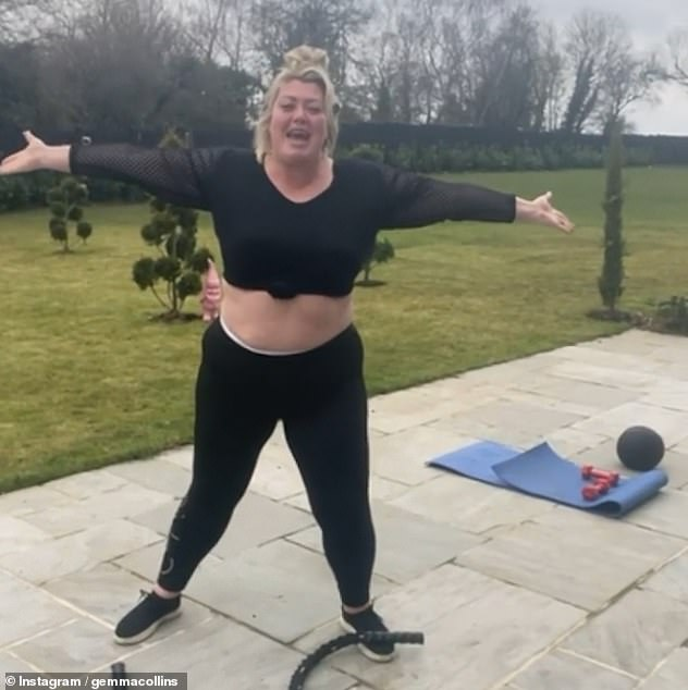 Wow! The star has been regularly showing off her three-stone weight loss in recent weeks, sharing videos of her workouts online
