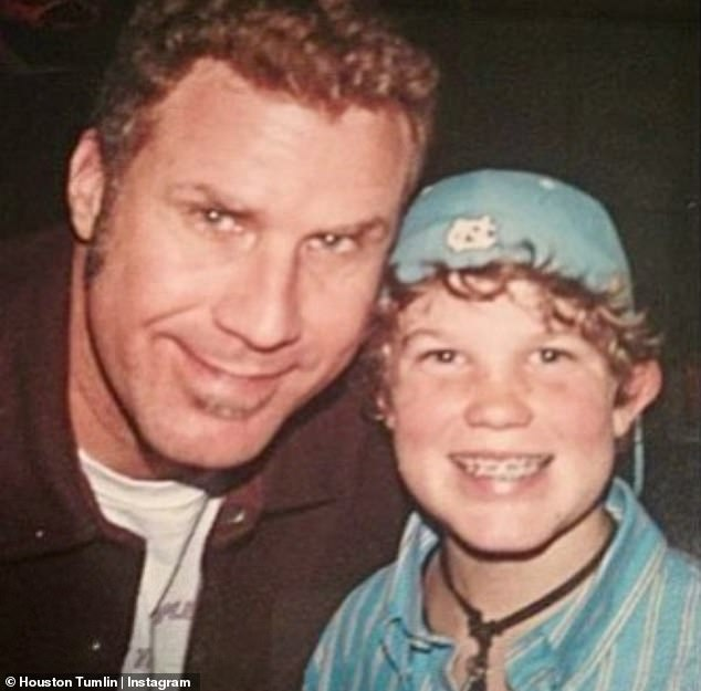 Blast from the past: Houston shared a throwback snap with Will Ferrell not to long ago