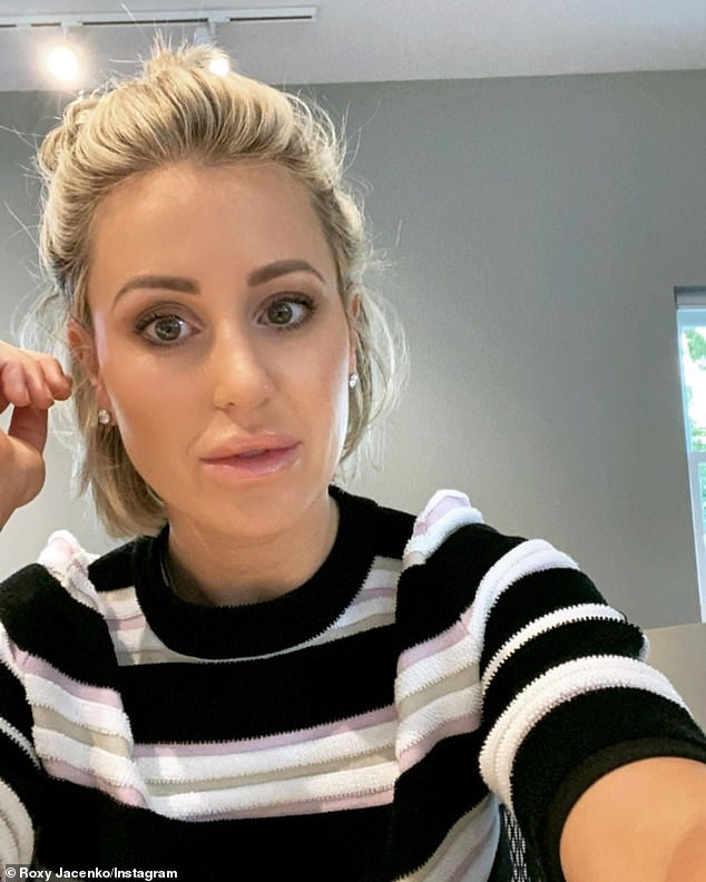 Friendship over: Candice told Daily Mail Australia, 'Obviously that was a long time ago and it's a new year, so no [we haven't spoken].' Pictured: Roxy Jacenko