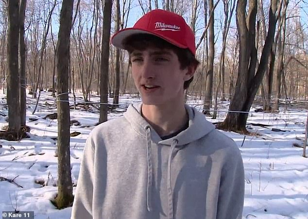 Budding entrepreneur:Will Wanish, a junior at Colfax High School in Wisconsin, is the teen behind the family-run maple syrup business Wanish Sugar Bush