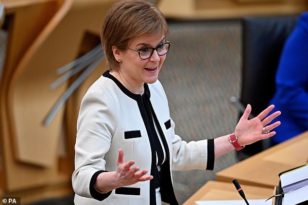 Scottish First Minister Nicola Sturgeon, pictured, has announced a four per cent pay rise for NHS workers in Scotland apart from doctors