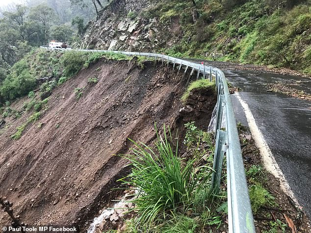Transport for NSW will assess the road in the next two weeks and complete emergency repairs