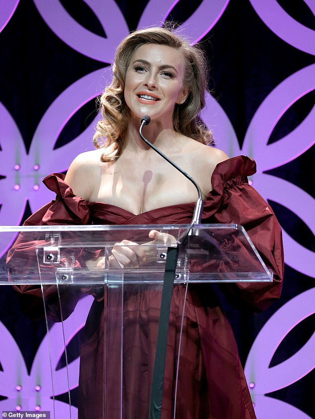 Honor: Hough added that Ann-Margret is, 'one of my biggest icon idols of all time. She is phenomenal, so to be asked to come and not only present her the award, but also to dance, and do a little medley for her, it's a huge honor'