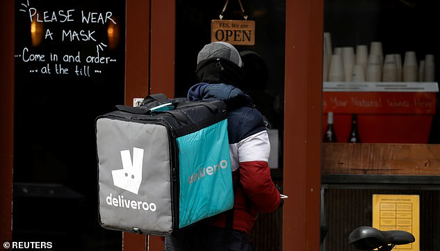 In demand: Deliveroo said the value of orders it received was up 121% in January and February - but it has never made a profit