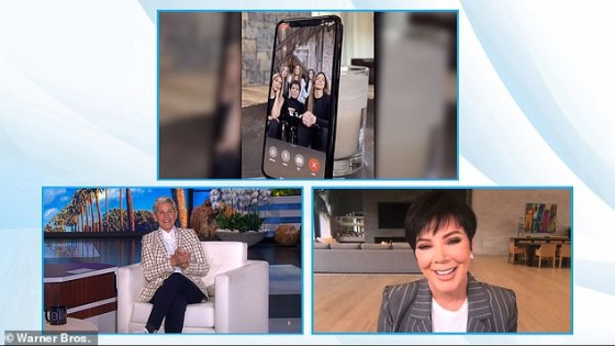 Chat show: The 65-year-old momager honestly admitted to appearing on The Ellen DeGeneres during Never Have My Kids Ever on Thursday