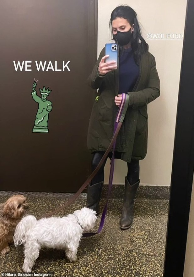 Shocking: Hilaria Baldwin has revealed she was accosted by 'some men' saying 'inappropriate things' while taking her dogs out for a walk in New York on Wednesday