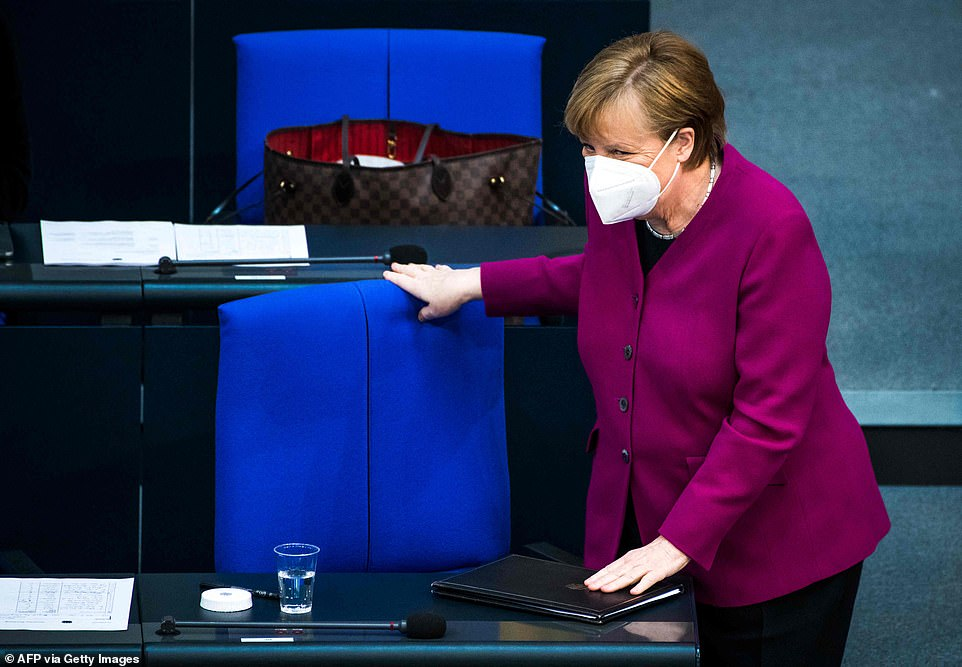 German Chancellor Angela Merkel defended the EU's joint procurement approach today in a speech to the Bundestag