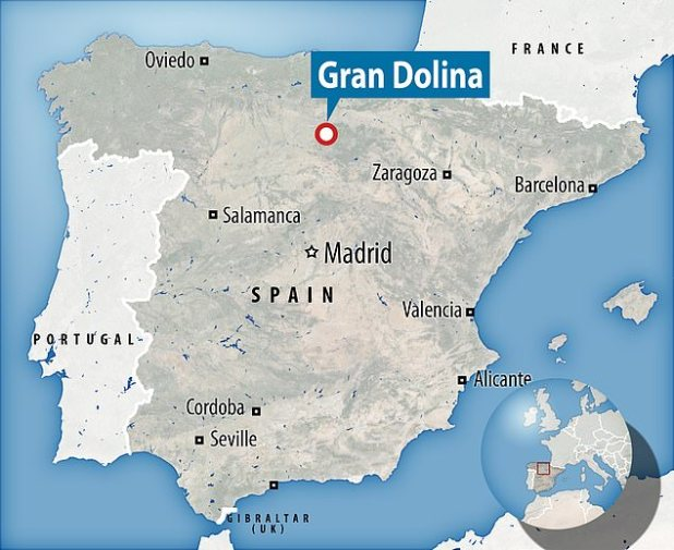 The remains were found at the Spanish archaeological site Grand Dolina in the 1960s, and it was later determined that they died after being killed and eaten by a rival tribe.