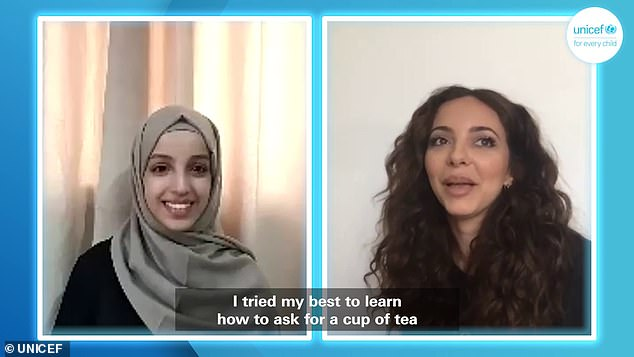 Conversation: And Jade shared more about her Yemeni heritage and learnt more about the ongoing conflict in Yemen with UNICEF during a Zoom call with Somaya, 17, from Sana'a