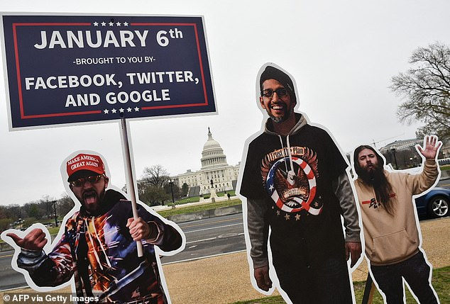 The installation blames Facebook, Twitter and Google for the January 6 insurrection. The CEOs will testify before lawmakers about misinformation and online extremism