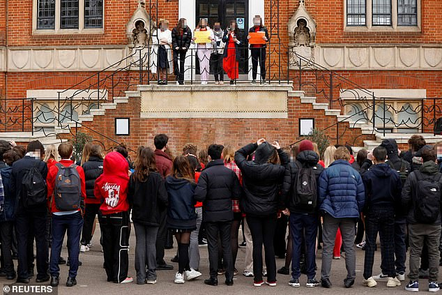 The protest comes after a dossier was sent from former and current pupils to the governors listing abuse and harassment at the 456-year-old school