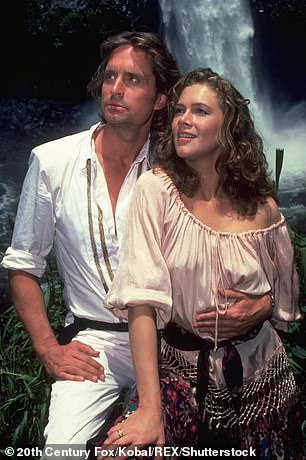 Throwback:Previously, the pair costarred in Romancing the Stone in 1984 and its 1985 sequel, The Jewel of the Nile as well as War of the Roses in 1989; Michael and Kathleen in Romancing The Stone in 1984