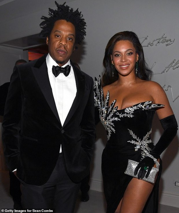 Side by Side - Jay-Z and Beyonce are pictured attending Sean 'Diddy' Combs' 50th birthday party in December 2019