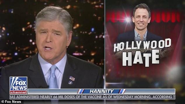 Sean Hannity ripped Seth Meyers and branded him a 'hypocritical a******' after the Late Night host called him a 'sociopath' sparking a feud between the TV hosts