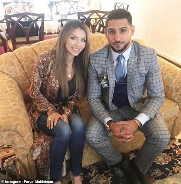 Nearby:  Amir's parents live close to his and his wife Faryal Makhdoom's £1.2million mansion in Bolton, Greater Manchester (pictured together)