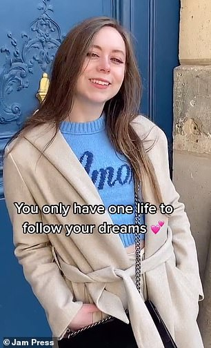 Mandy said people should follow their dreams if they want to move to Paris