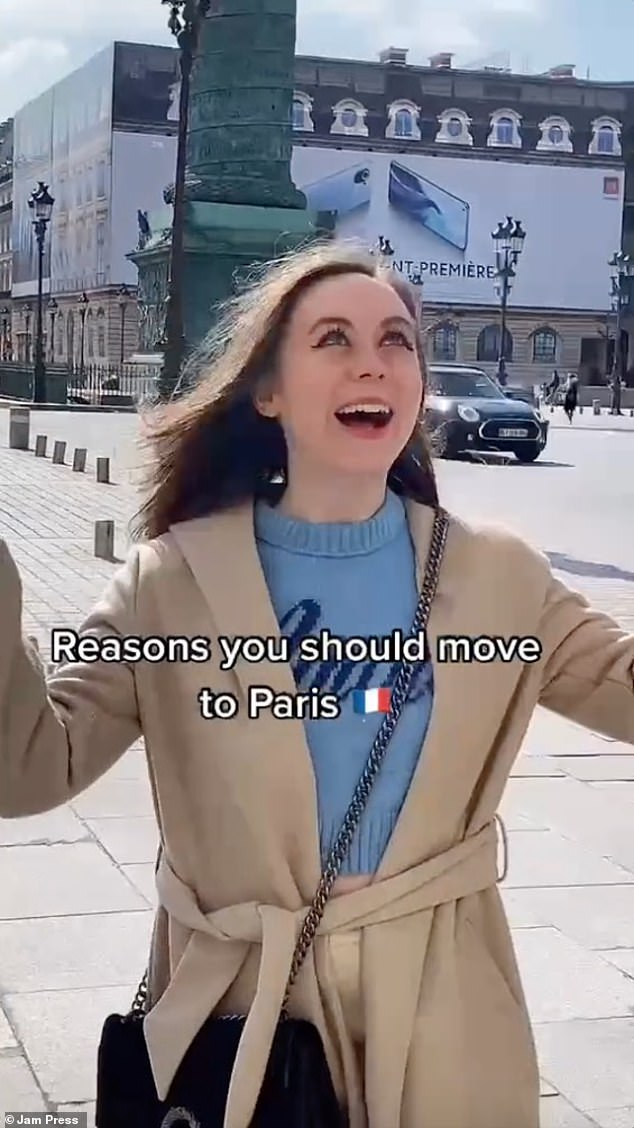 The 22-year-old Irish woman also said there were good reasons to want to move to Paris like she had
