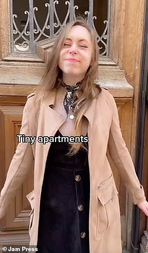 The 22-year-old also said the apartments in Paris were 'tiny'