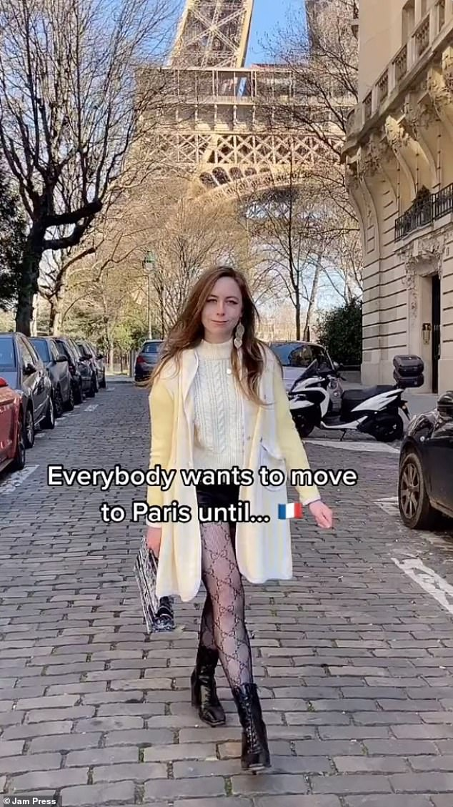 Mandy Cherie, 22, from Donegal, Ireland, has been living in Paris for the past three years, and has been dubbed the real life Emily in Paris