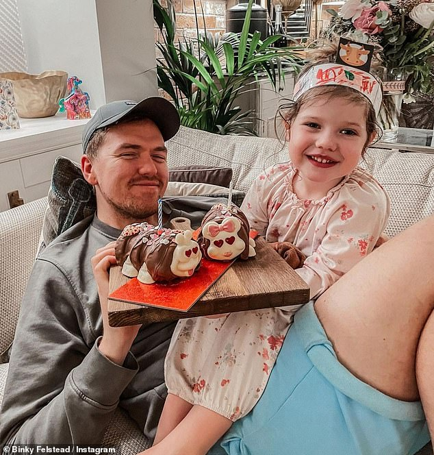 'I'm so grateful I was able to get pregnant again': Binky suffered a tragic miscarriage when she and Max were expecting their first baby last year