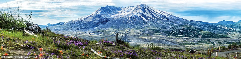 MOUNT ST HELENS, WASHINGTON, USA: 'The landslide that preceded and triggered the blast of pyroclastic material in the 1980 eruption,' writes Ford, 'was caused by the collapse of the entire north face of the mountain after an earthquake and carried with it debris that covered an area of 62 square km (24 sq miles) with many metres of rubble. It was the largest landslide in recorded history and left a clear view into the volcano's crater for the first time'