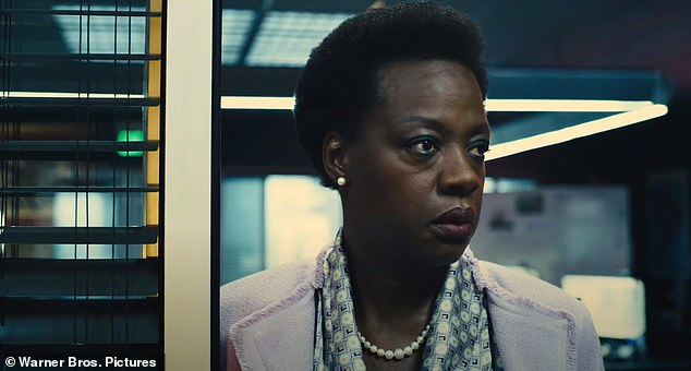 Behind the scenes: Running the operation is Viola Davis' returning character Amanda Waller, who set up the Suicide Squad program that was featured in the first film