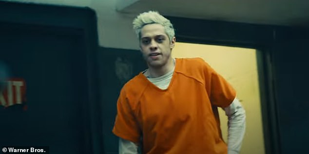 Not promising: Pete Davidson plays Blackguard, a mercenary known for screwing up his own schemes, as he pulls some toilet paper off of his shoe