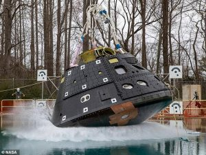 NASA's Orion spacecraft completes first rainfall test in preparation for Artemis I launch in November