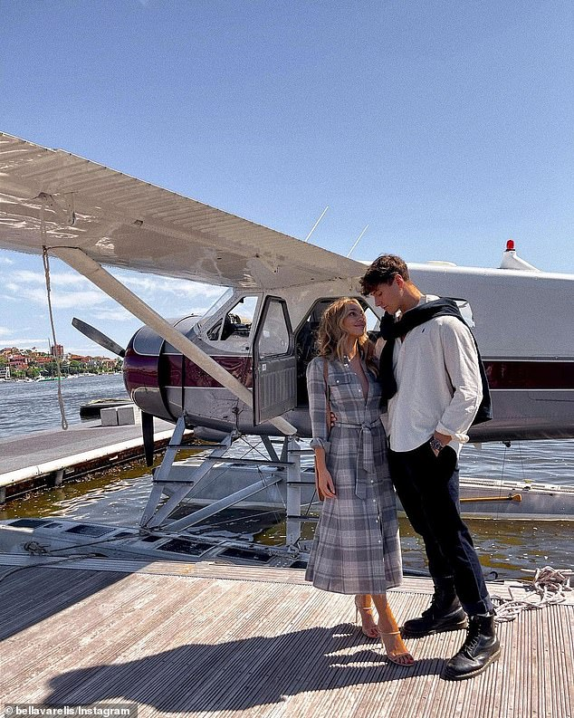 Loved up! The Bachelor's Bella Varelis stunned in a flowing dress on Thursday, as she enjoyed a romantic seaplane date with her hunky photographer boyfriend Will Stokoe
