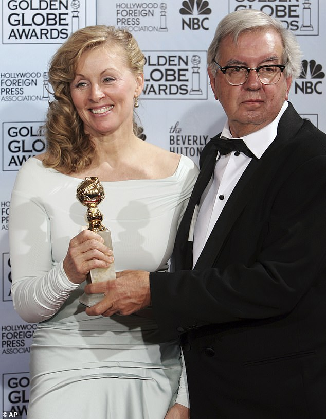Doubling up: In addition to their Oscar, McMurtry and Ossana won a Golden Globe Award for their work on Brokeback Mountain; the two are pictured in 2006