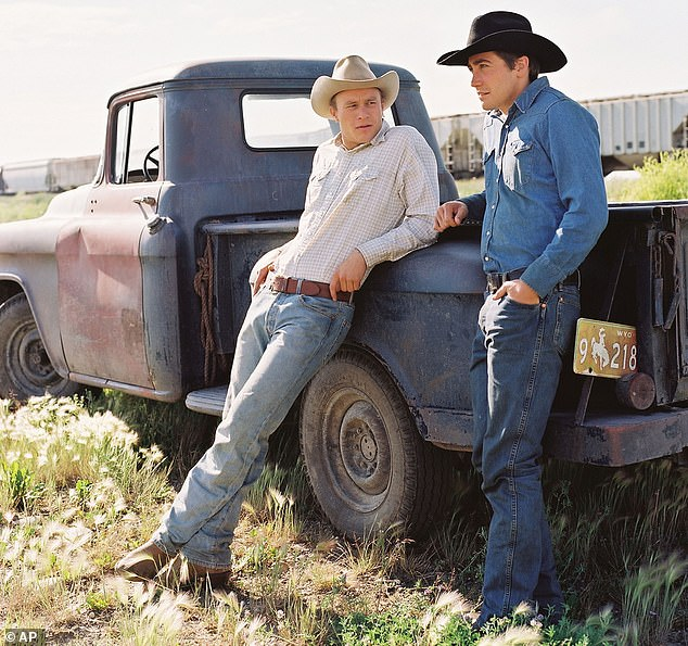 Poignant story: McMurtry and Ossana adapted Brokeback Mountain from the 1997 short story of the same name; Heath Ledger and Jake Gyllenhaal are seen performing in the 2005 film