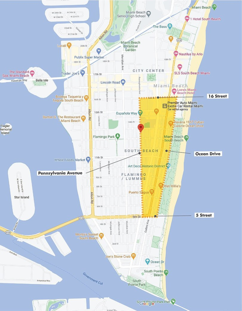 Curfew was imposed on the entertainment district in Miami Beach