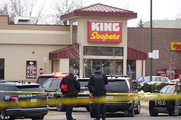 Police outside the King Soopers store in Boulder, Colorado