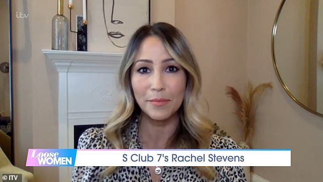Open and honest:Her appearance comes soon after Rachel said she has weekly therapy sessions after 'growing up' in the spotlight with S Club 7