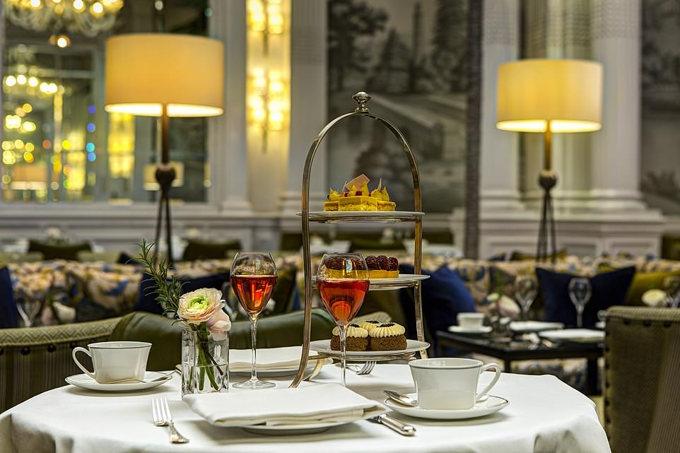 Have your cake and eat it: An afternoon tea spread in the palm court at The Balmoral hotel in Edinburgh. The property has 167 rooms and a bar with 500 whiskies