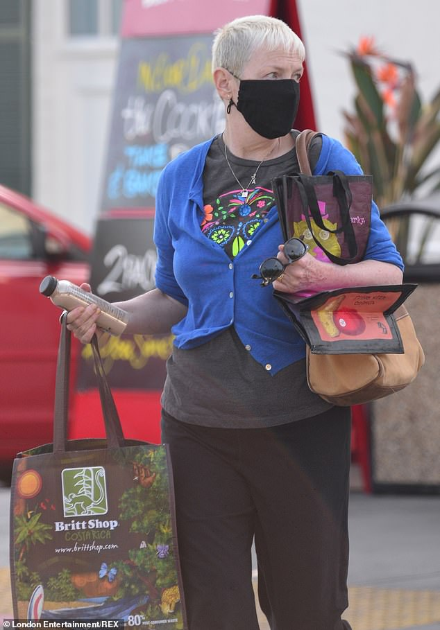 Shopping:The singer, 66, was seen leaving a store in West Hollywood, Los Angeles, with her South African doctor husband, who is also 66.
