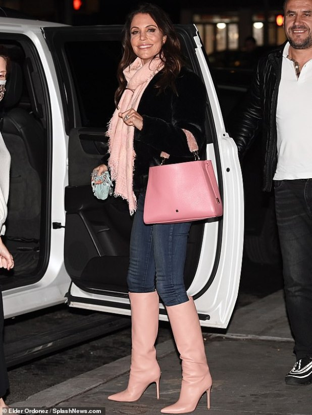 Legging it: Bethenny Frankel showed off her massive $ 3 million ring as she headed to New York City this Friday night.