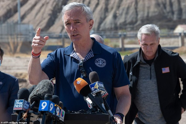 New York Republican Rep. John Katko who said it shows the Biden administration has 'no intention of upholding a bipartisan, unifying approach to securing our homeland'