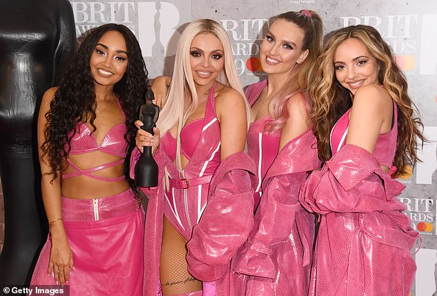 Back in the day: Jade's tribute came while Little Mix was still a foursome, before Jesy Nelson announced in December she was leaving the band (pictured in 2019)
