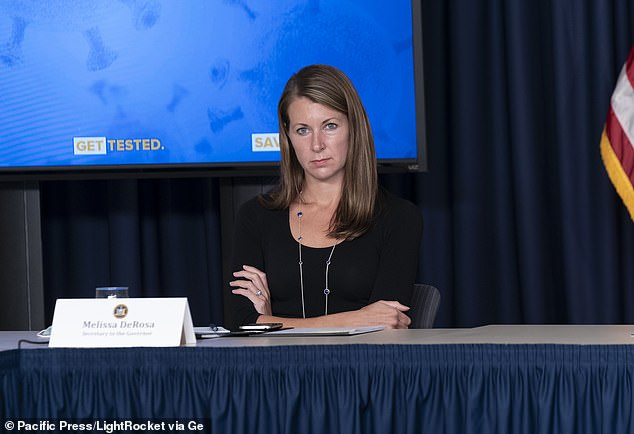 Sources told the Wall Street Journal several aides in the governor's office have been ordered to hand over documents to investigators. DeRosa (pictured), secretary to the governor, was reportedly among those subpoenaed