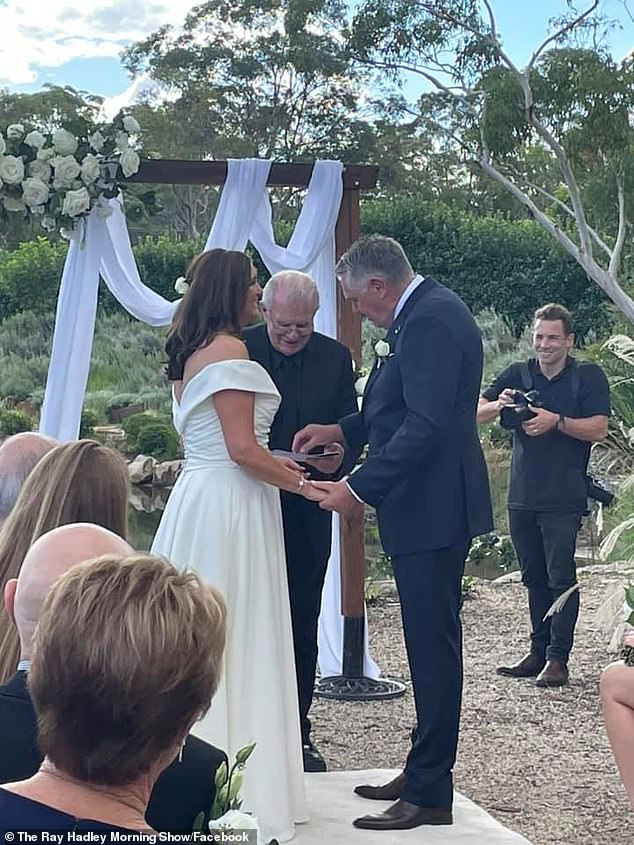 It's official! 2GB radio host Ray Hadley, 66, and his glamorous secretary Sophie Baird finally got married after postponing their wedding three times