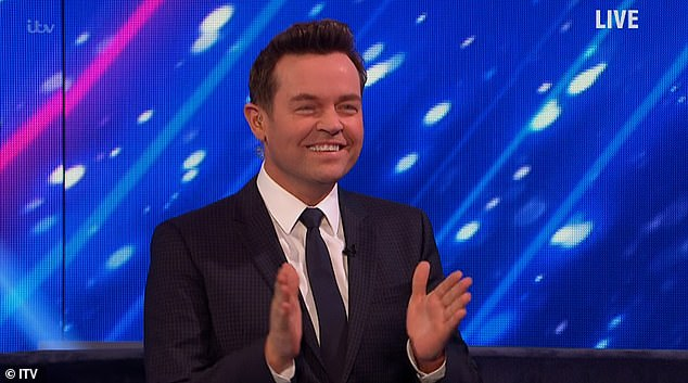Masterminds:Speaking with Ant and Dec back in the studio Stephen (pictured) said: 'Full respect to all the presenters because being live you've got to be very careful with what you say'