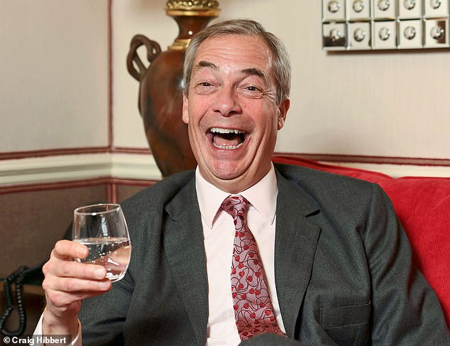 Farage also riffs on more familiar topics: taking aim at the EU over its vaccine fiasco and at Boris Johnson for floating the idea of 'pub passports' post-lockdown.