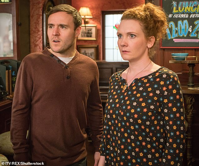 Scandal:In shocking scenes, the two characters kissed and Tyrone dumped long-term partner Fiz (pictured in still) and declare his love for Alina