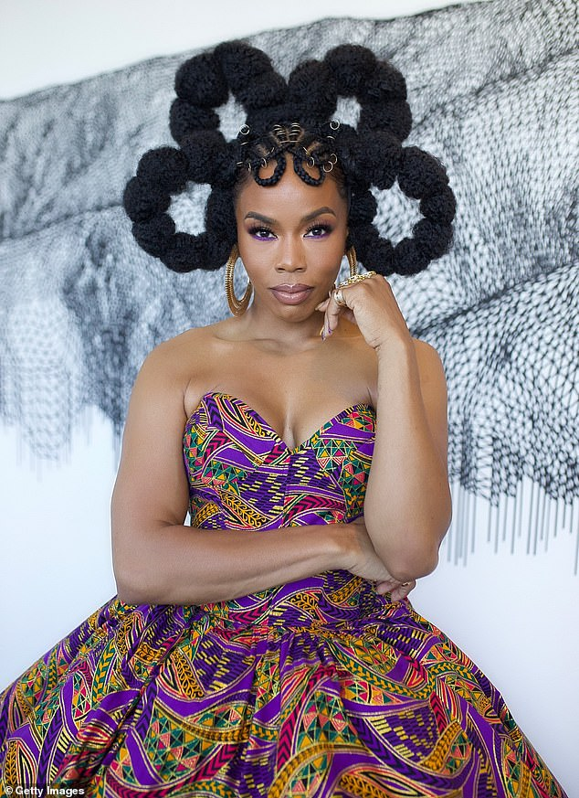 Stunning:Other star guests at the Image Awards this year included actresses Brandee Evans (pictured) and Novi Brown