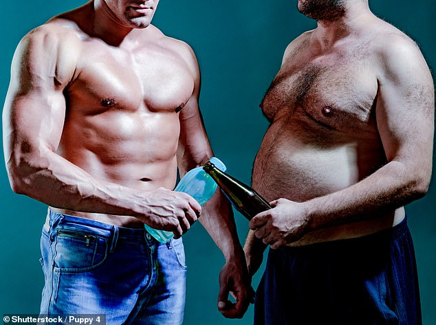 Research conducted by Dating.com has found the majority of people prefer men with a soft and round body shape (file image)