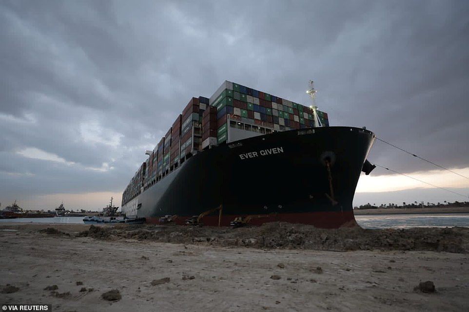 The Japanese-owned ship is disrupting global shipping valued at more than £6.5billion per day and is exacerbating the global economic crisis triggered by Covid-19