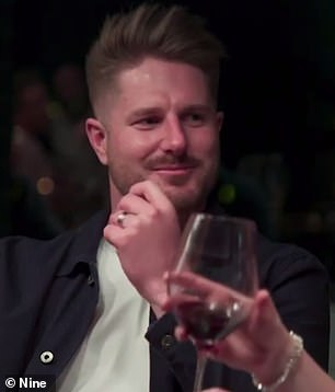Brutal aftermath: Bryce Ruthven (pictured) has dropped a major Married At First Sight spoiler, revealing what happened after he tried to kiss his arch nemesis Beck Zemek