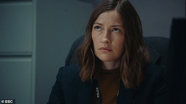 Drama:On Sunday night's show newcomer DCI Jo Davidson (Kelly MacDonald, pictured) was hauled in for the first AC-12 interrogation scene of the season